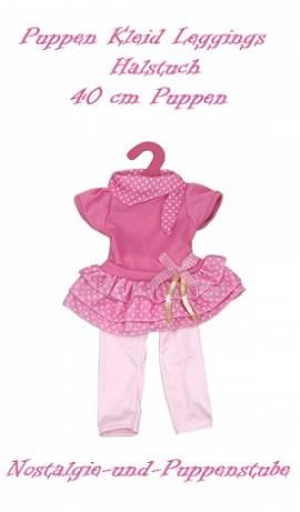 Puppen Kleidung Kleid Leggings Halstuch Set für 40 cm Puppen 2237 - Bild vergrößern