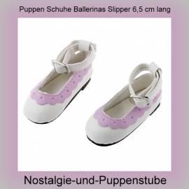 Puppen Schuhe Slipper Ballerinas 6,5 cm lang 2256  - Bild vergrößern