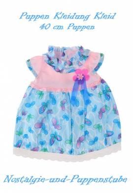 Puppen Kleidung Kleid Sommerkleid blau für 40 cm Puppen 3200 - Bild vergrößern
