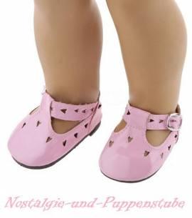 Puppen Schuhe Slipper Ballerinas rosa 6,5 cm lang 3724 - Bild vergrößern