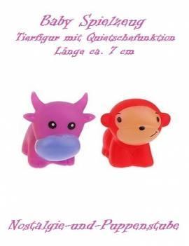 Baby Gummi Tier Spielzeug Quietschefunktion 2er Set 4377 - Bild vergrößern