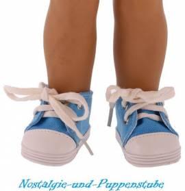 Puppen Schuhe Chucks Sportschuhe Leinenschuhe Sneakers Freizeitschuhe 7 cm lang 5629 - Bild vergrößern
