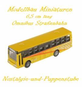 Miniaturen Modellbau Eisenbahn Omnibus Bus Straßenbahn 6,5 cm lang 5700 gelb - Bild vergrößern
