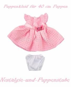 Puppen Kleidung Kleid Sommerkleid rosa für 40 cm Puppen 5962 - Bild vergrößern