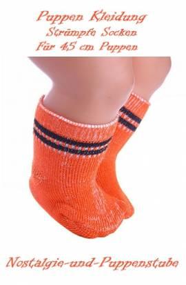Puppen Kleidung Strümpfe Socken orange für 45 cm Puppen 661 - Bild vergrößern