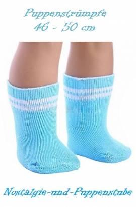 Puppen Kleidung Strümpfe Socken blau für 45 cm Puppen 668 - Bild vergrößern