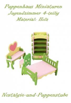 Puppenhaus Zubehör Möbel Miniaturen Holz Kinder Jugend Zimmer 4-tlg. 7485 - Bild vergrößern