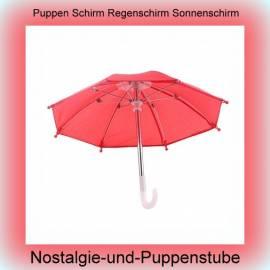 Puppen Regenschirm Sonnenschirm Stockschirm Schirm rot 7979 - Bild vergrößern