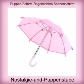 Puppen Regenschirm Sonnenschirm Stockschirm Schirm rosa 7980 - Bild vergrößern