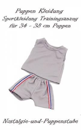 Puppen Kleidung Sportkleidung Trainingsanzug Shirt Hose für 34 - 38 cm Puppen 882 - Bild vergrößern