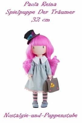 Spiel Puppe Santoro Gorjuss 32 cm Haare pink Paola Reina 4913 - Bild vergrößern