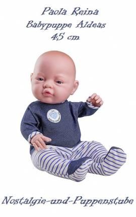 Baby Puppe Spielpuppe Puppenjunge Bebito Aldeas 45 cm Paola Reina 5150 - Bild vergrößern