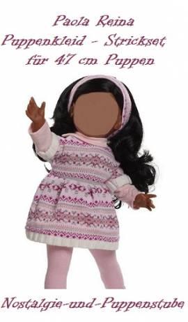 Puppen Kleidung Strick Kleid Haarband 4-teilig 47 cm Spielpuppen Paola Reina 56201 - Bild vergrößern