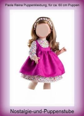Puppen Kleidung Kleid Trägerrock pink für ca. 60 cm Puppen Paola Reina 56552 - Bild vergrößern