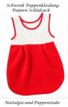 Schwenk Puppen Schlafsack rot für Puppen von 46 - 50 cm 07950 - Bild vergrößern