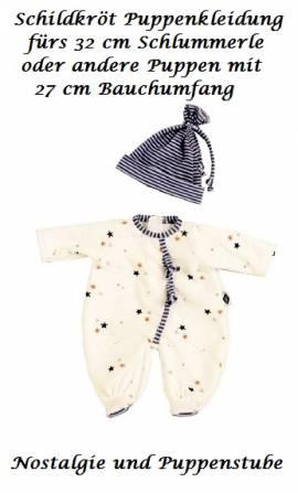 Puppen Kleidung Overall und Mütze fürs Schildkröt Schlummerle 32 cm 32780  - Bild vergrößern