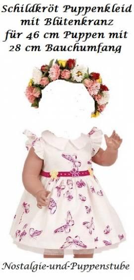 Schildkröt Puppenkleidung Kleid mit Blumenkranz für 46 cm große Puppen 46768 - Bild vergrößern