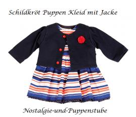 Puppenkleider Puppen Kleid mit Jacke für 49 cm Klassik Puppen Schildkröt, 49747 - Bild vergrößern