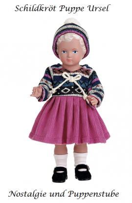 Schildkrötpuppe Klassik Kollektion Ursel in Winterkleidung 25 cm 7725767 - Bild vergrößern