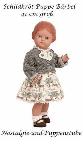 Schildkröt Klassik Puppe Bärbel 41 cm im Trachtenkostüm Waldmotive 8141745 - Bild vergrößern