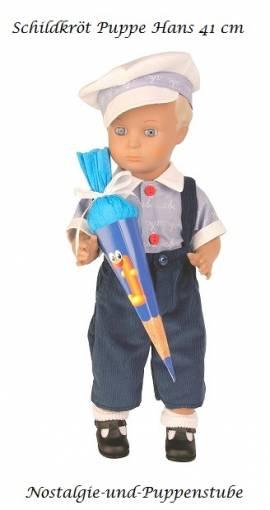 Schildkröt Puppe Hans 41 cm als Schul Anfänger mit Schultüte  8341683 - Bild vergrößern