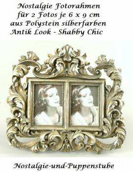 Bilderrahmen Fotorahmen Antik Look Shabby Chic für 2 Fotos Nostalgie Deko 1956 - Bild vergrößern
