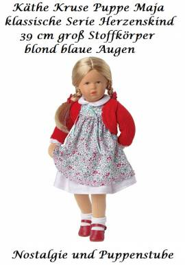 Käthe Kruse Puppe neue Serie Herzenskind Maja 39 cm blond blaue Augen, 39405 - Bild vergrößern