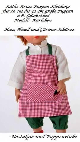 Käthe Kruse Puppen Kleidung 3teiliges Set für 39 bis 42 cm Puppen Modell Karlchen, Nr. 42028 - Bild vergrößern