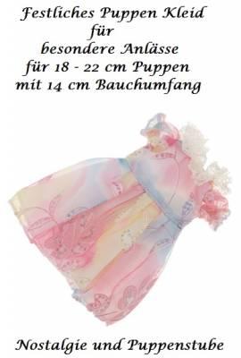 Puppen Kleidung festliches Kleid pastellfarben für 18 bis 20 cm Puppen 1004 - Bild vergrößern
