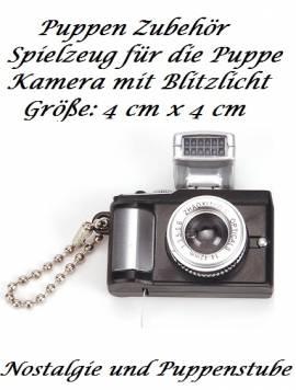 Spielzeug für Puppen Miniatur Fotoapparat Kamera mit Blitzlicht, Nr. 115 - Bild vergrößern