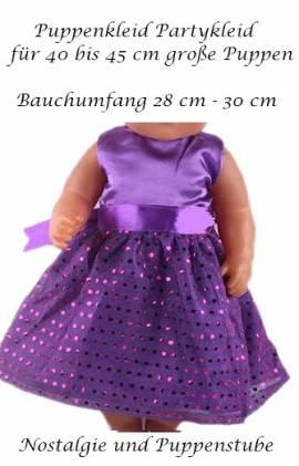 Puppen Kleidung Party Kleid lila Abendkleid Ballkleid für 40 cm Puppen, Nr.166d - Bild vergrößern