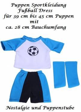Puppen Kleidung Sportkleidung Fußball Trikot Dress Stulpen für 39 - 45 cm Puppen, Nr. 172b  - Bild vergrößern