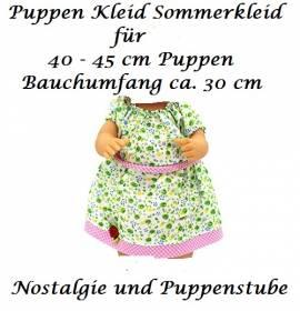 Puppen Kleidung Kleid Sommerkleid grün rosa für 40 bis 45 cm Puppen, Nr. 189 - Bild vergrößern