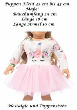 Puppen Kleidung Puppen Kleid rosa Tüll für 42 cm bis 45 cm Puppen, 199 a - Bild vergrößern