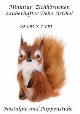 Miniatur Eichhörnchen Fellimitat Deko Artikel 10 cm lang, Nr. 200 - Bild vergrößern