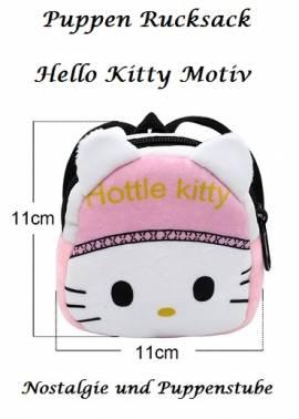 Puppenzubehör Puppen Rucksack rosa Hello Kitty Motiv, Nr. 227a - Bild vergrößern