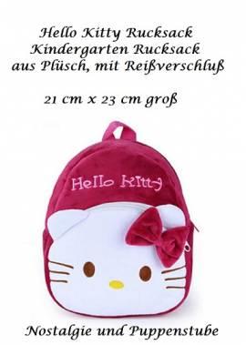 Hello Kitty Kindergarten Rucksack bordeaux rot Plüsch, Nr. 380a - Bild vergrößern