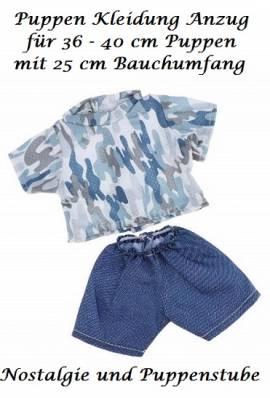 Puppen Kleidung Sport Anzug camouflage für 36 - 41 cm Puppen 400 - Bild vergrößern