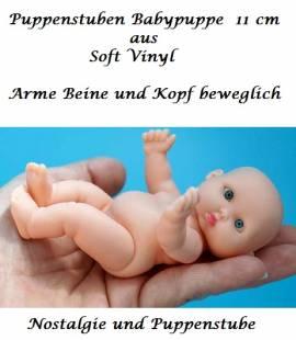 Kleine Puppen Puppenstuben Puppen Baby Puppe 11 cm, Nr. 431 - Bild vergrößern