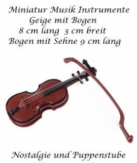 Kleinspielsachen Miniatur Musik Instrument Geige mit Bogen, Nr. 85  - Bild vergrößern