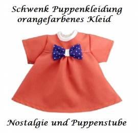 Schwenk Puppen Kleidung orangefarbenes Kleid für 28 - 30 cm Puppen, Nr. 10128a - Bild vergrößern