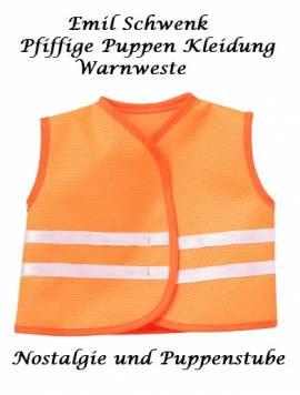 Puppen Berufskleidung Warnweste Bauarbeiterweste für 36 bis 41 cm Puppen Schwenk 435 - Bild vergrößern