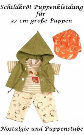 Puppen Kleidung Hose Shirt Weste und Mütze fürs 37 cm Schildkröt Schlummerle 37853 - Bild vergrößern