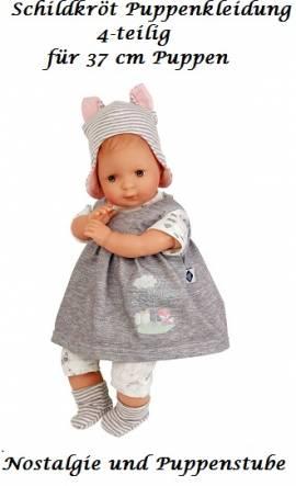 Puppen Kleidung für 37 cm große Spielpuppen 4-teiliges Set in Grau Schildkröt 37858 - Bild vergrößern