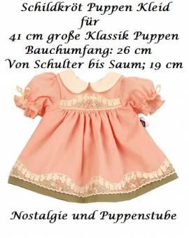 Puppenkleider Puppen Kleid lachsfarben mit Stickerei für 41 cm Klassik Puppen Schildkröt 41832 - Bild vergrößern