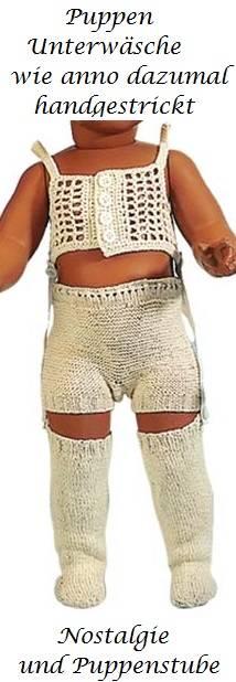 Schildkröt Puppenkleidung handgestrickte Unterwäsche für 41 cm Puppen, Nr. 41168 - Produktbild