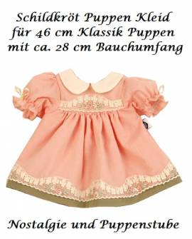 Puppenkleider Puppen Kleid lachsfarben mit Stickerei für 46 cm Klassik Puppen Schildkröt 46832 - Bild vergrößern