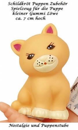 Schildkröt Spielzeug für Puppen 7 cm großer Gummi Löwe - Bild vergrößern