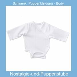 Schwenk Puppenkleidung, Body Langarm, weiß, für 46 - 50 cm große Babypuppen  - Bild vergrößern