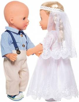 Heless Puppen Kleidung Bräutigam Outfit 4teilig für 35 - 45 cm Puppen, Nr. 2021   - Bild vergrößern